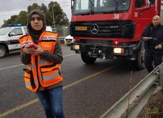 Sanaa Mahameed, eine weibliche, arabische und muslimische Freiwillige bei United Hatzalah (eine Rettungsorganisation von Ersthelfern in Israel). Foto United Hatzalah.