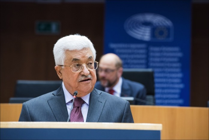 Mahmoud Abbas im EU-Parlament in Brüssel. Foto © European Union 2016