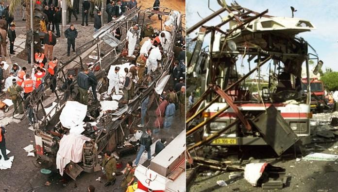 Bombenanschläge vom 25. Februar 1996 und 3. März 1996 auf der Jaffa-Road in Jerusalem kamen 45 Menschen ums Leben, die meisten von ihnen Zivilisten. Foto zVg