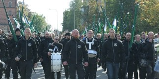 Die Nordische Widerstandsbewegung (schwedisch Nordiska motståndsrörelsen, NMR). Foto Carl Ridderstråle, CC BY-SA 4.0, https://commons.wikimedia.org/w/index.php?curid=64146428