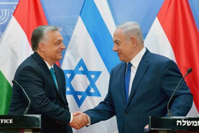 Der israelische Premierminister Benjamin Netanyahu bei einer Pressekonferenz mit dem ungarischen Premierminister Viktor Orbán am 19. Juli 2018 in Jerusalem. Foto Kobi Gideon/GPO