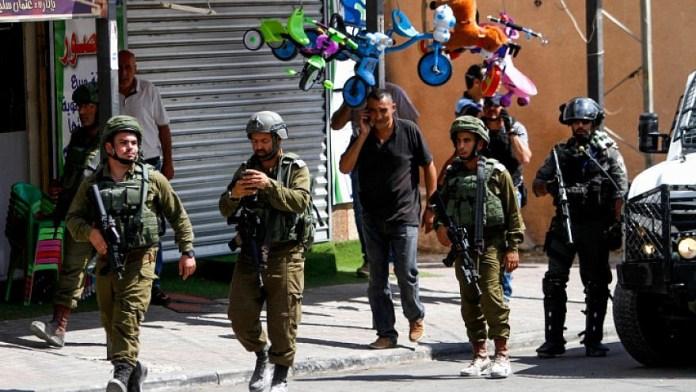 Israelische Sicherheitskräfte in der Nähe des Ortes eines Attentates im Dorf Azun am 7. September 2019. Foto Nasser Ishtayeh/Flash90