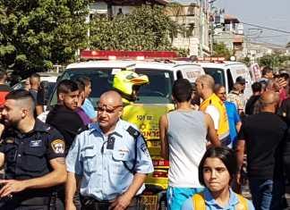70 israelische Araber sind seit Jahresanfang von anderen Arabern ermordet worden. Tatort-Foto Twitter