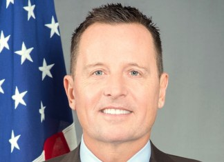 Der US-Botschafter in Berlin Richard Grenell. Foto US Consulate Munich - https://de.usembassy.gov/our-relationship/our-ambassador/, Gemeinfrei, https://commons.wikimedia.org/w/index.php?curid=68702270