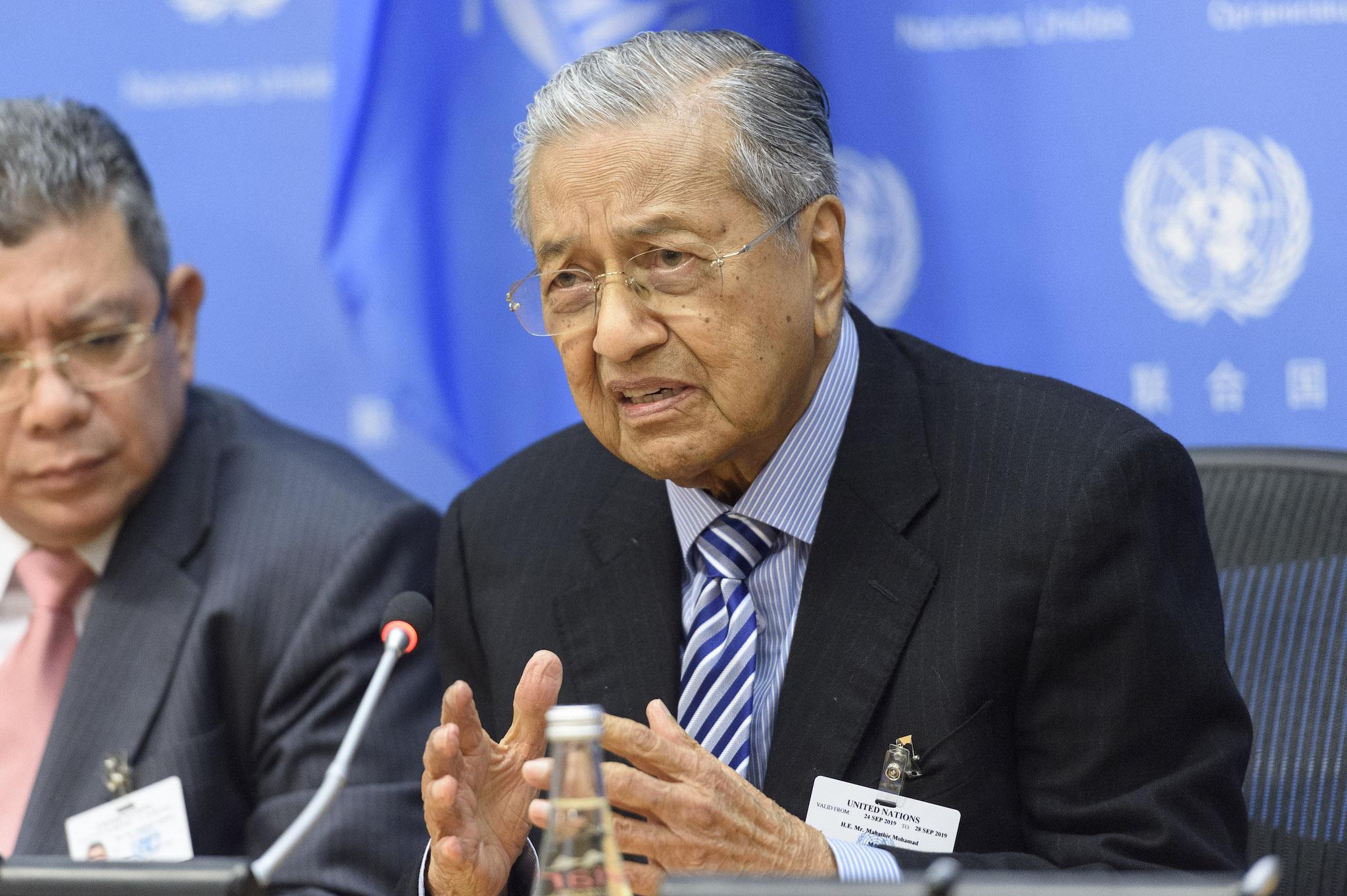 mahathir bin mohamad, premierminister von malaysia. foto un