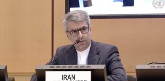 Esmaeil Baghaei Hamaneh, Ständiger Vertreter des Iran bei den Vereinten Nationen in Genf. Foto Screenshot UN Web TV