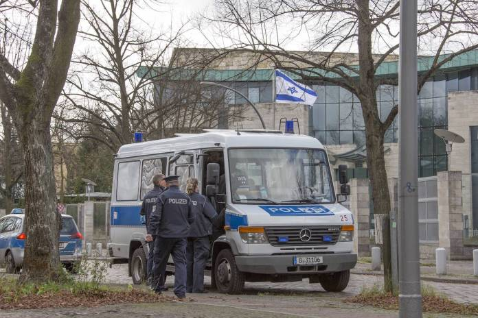 Symbolbild. Israelische Botschaft Berlin. Foto imago images / Olaf Wagner
