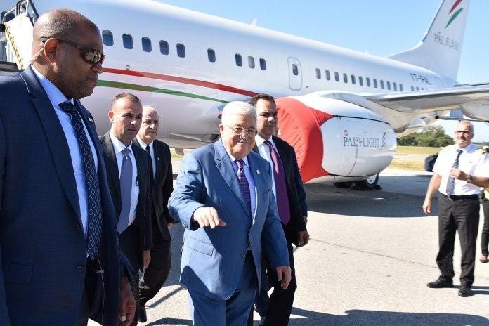 Der palästinensische Präsident Mahmud Abbas bei seiner Ankunft in New York zur UNO-Vollversammlung am 21. September 2019. Foto US Diplomatic Security Service, Public Domain, https://commons.wikimedia.org/w/index.php?curid=84764529