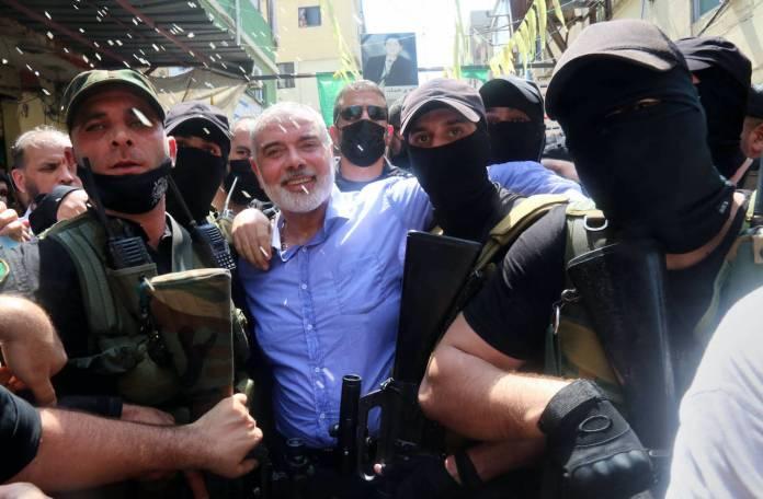 Hamas-Führer Ismail Haniyeh bei seinem Besuch im Libanon. Foto imago images / ZUMA Wire