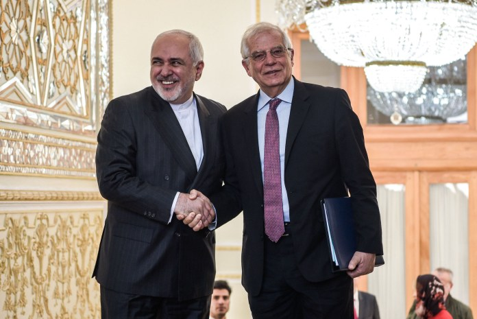 Der iranische Aussenminister Mohammed Dschawad Sarif und EU-Chefdiplomat Joseph Borrell. Foto ©European Union