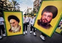 Der Führer der libanesischen Hisbollah Hassan Nasrallah (rechts abgebildet). Foto IMAGO / ZUMA Wire