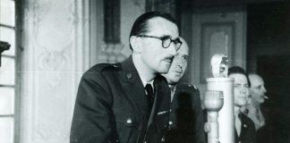 Chefankläger (Regierungskommissar) Granier in Rastatt Militärtribunal). Foto © SWR/Landratsamt Zollernalbkreis