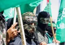 Hamas Kundgebung gegen die Verschiebung der palästinensischen Parlaments- und Präsidentschaftswahlen im nördlichen Gazastreifen am 30. April 2021. Foto IMAGO / ZUMA Wire