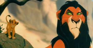 """""""No, Simba, you're in trouble again. But this time, Daddy isn't here to save you. And now everyone knows why!"""""""