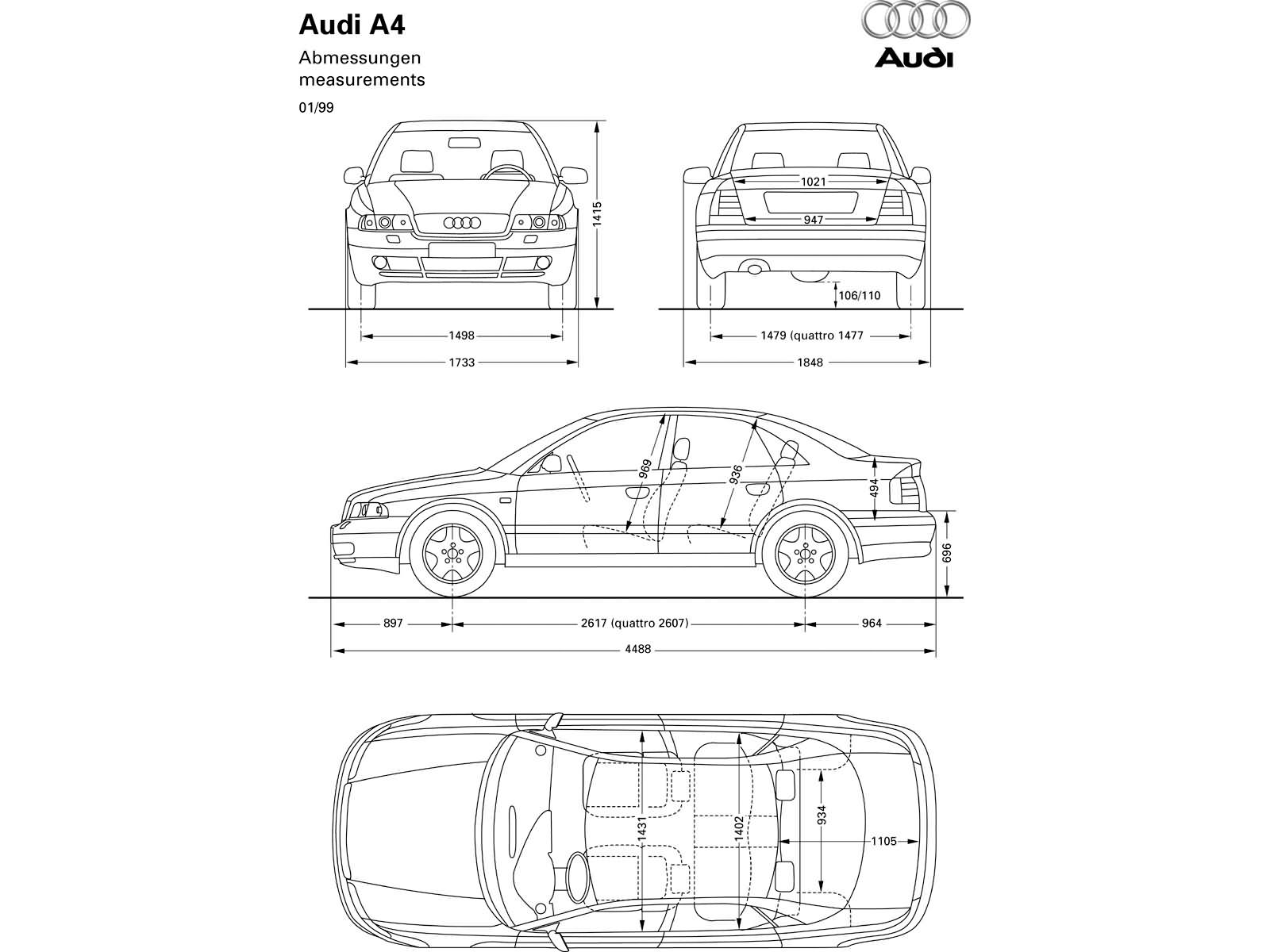A4 1 9tdi B5 A4 Dane Techniczne Audi Klub Polska