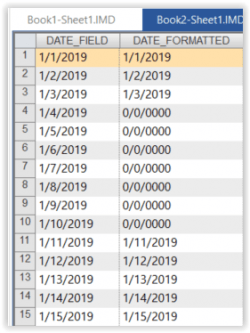View of Update Date Fields in IDEA
