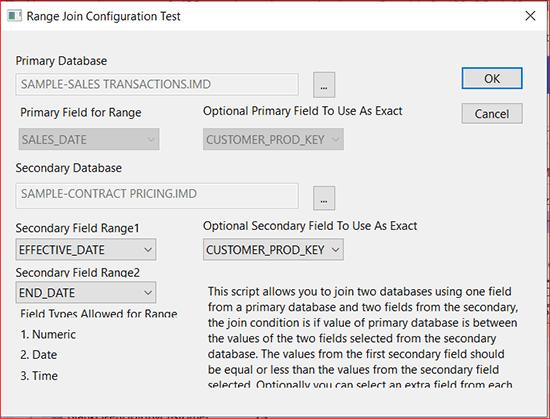 Range Join Configuration Test