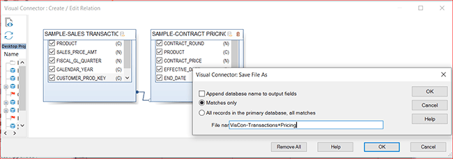 Visual Connector: Save File As
