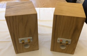 Finished Speakers Rear View
