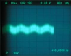 無信号時の出力信号波形(アース有り)