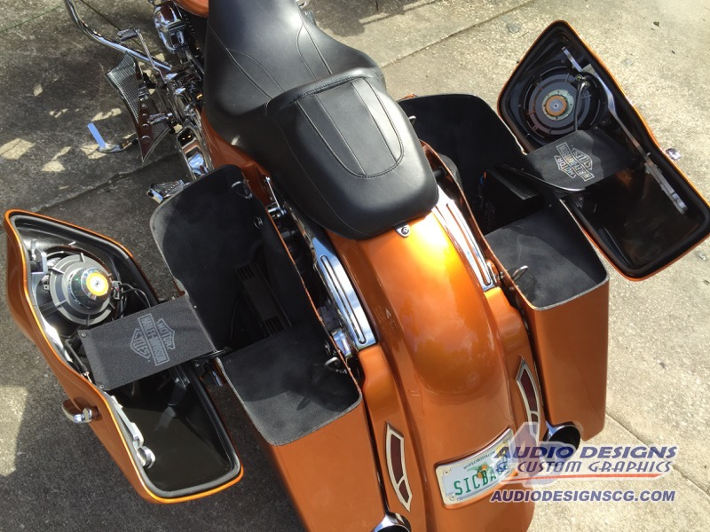 2015 Harley Davidson Road Glide Audio System Window Tint