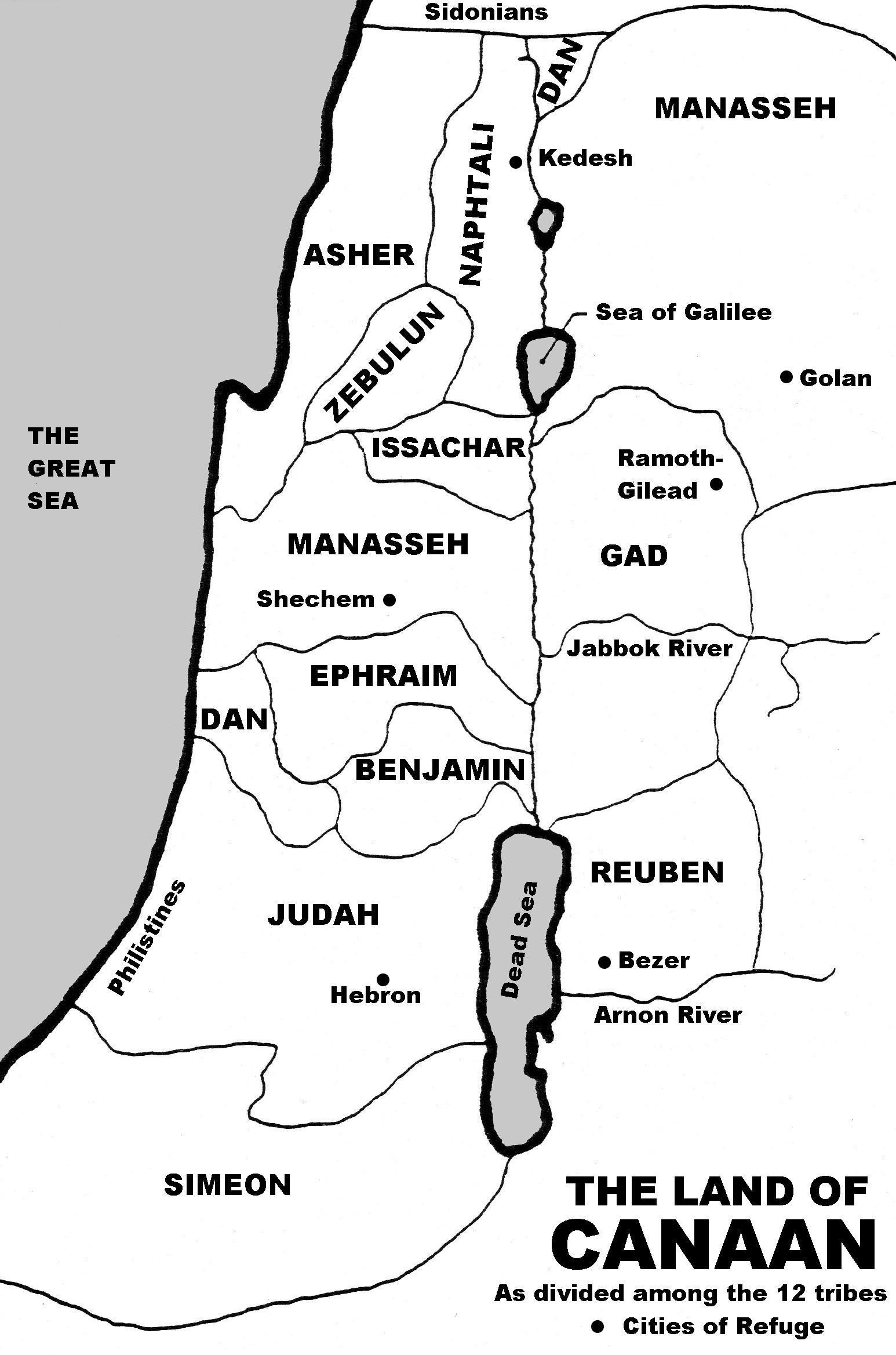 Dividing The Land Joshua 13 19