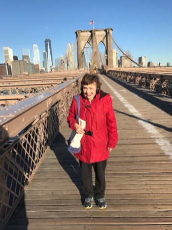 Ellen Quint on the Brooklyn Bridge