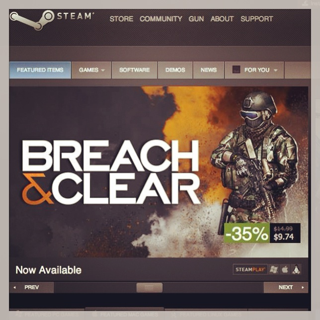 New Game Release – Breach & Clear on Steam