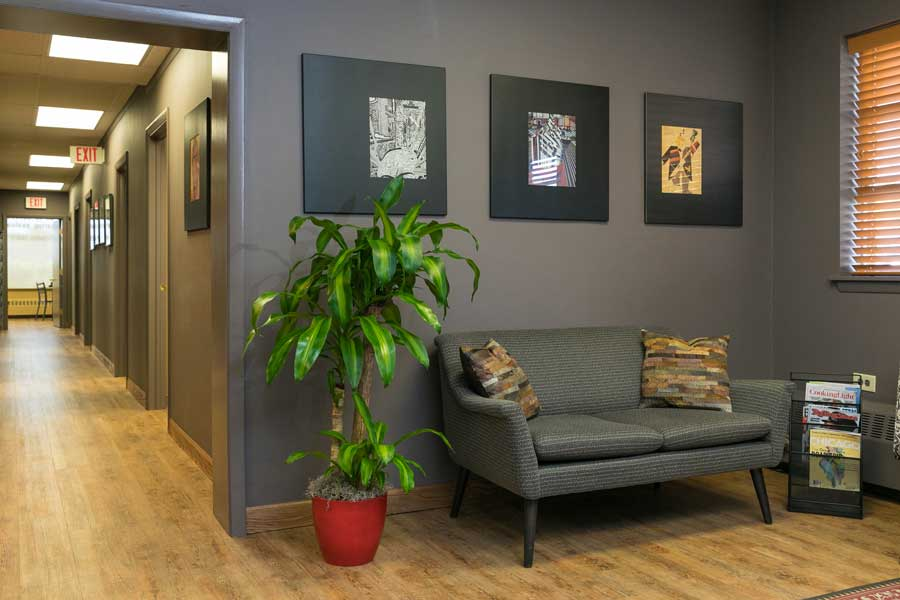 another view of the waiting room of audiology associates of deerfield