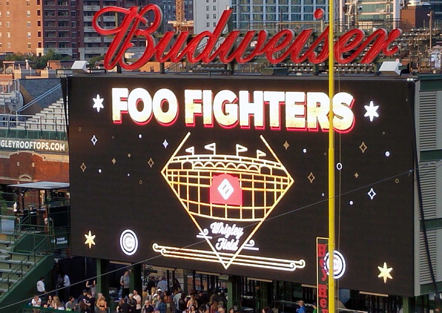 Foo Fighters concert with hearing protection