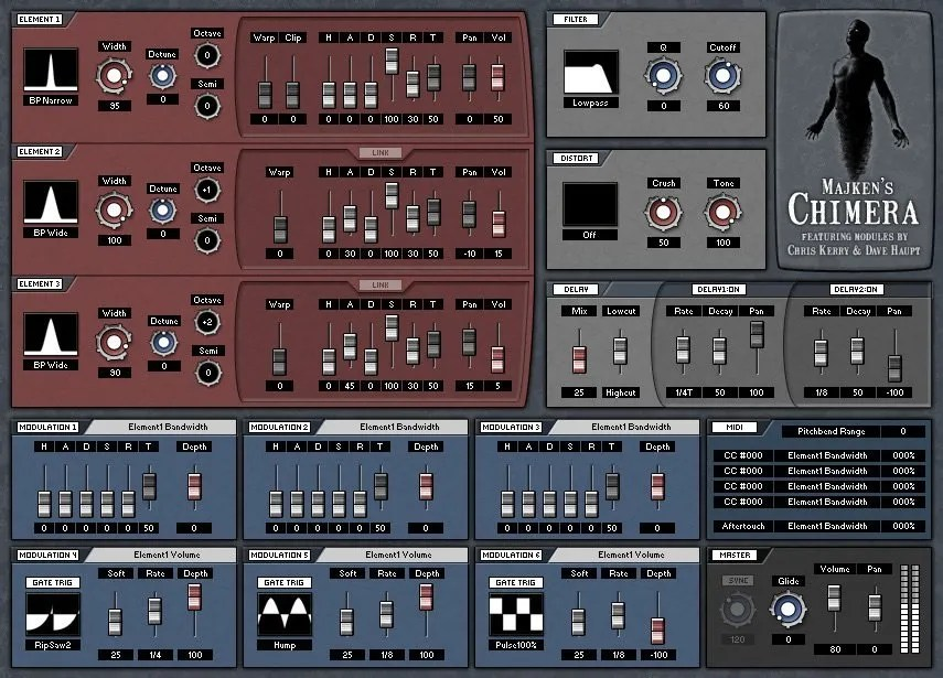 Noise driven synth
