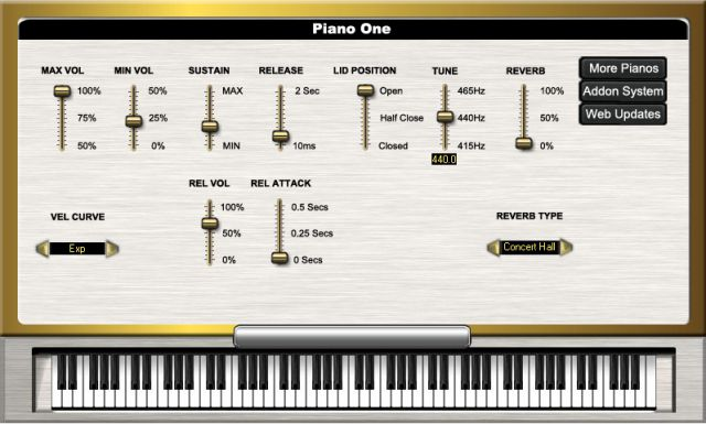 Piano One (Piano) • Audio Plugins for Free