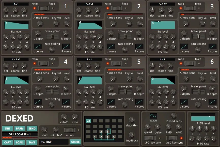 Dexed (Synth FM) • Audio Plugins for Free