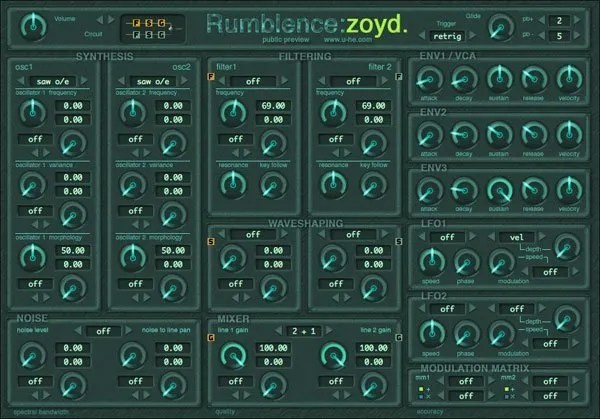 Zoyd Synth Analogue Subtractive Audio Plugins For Free