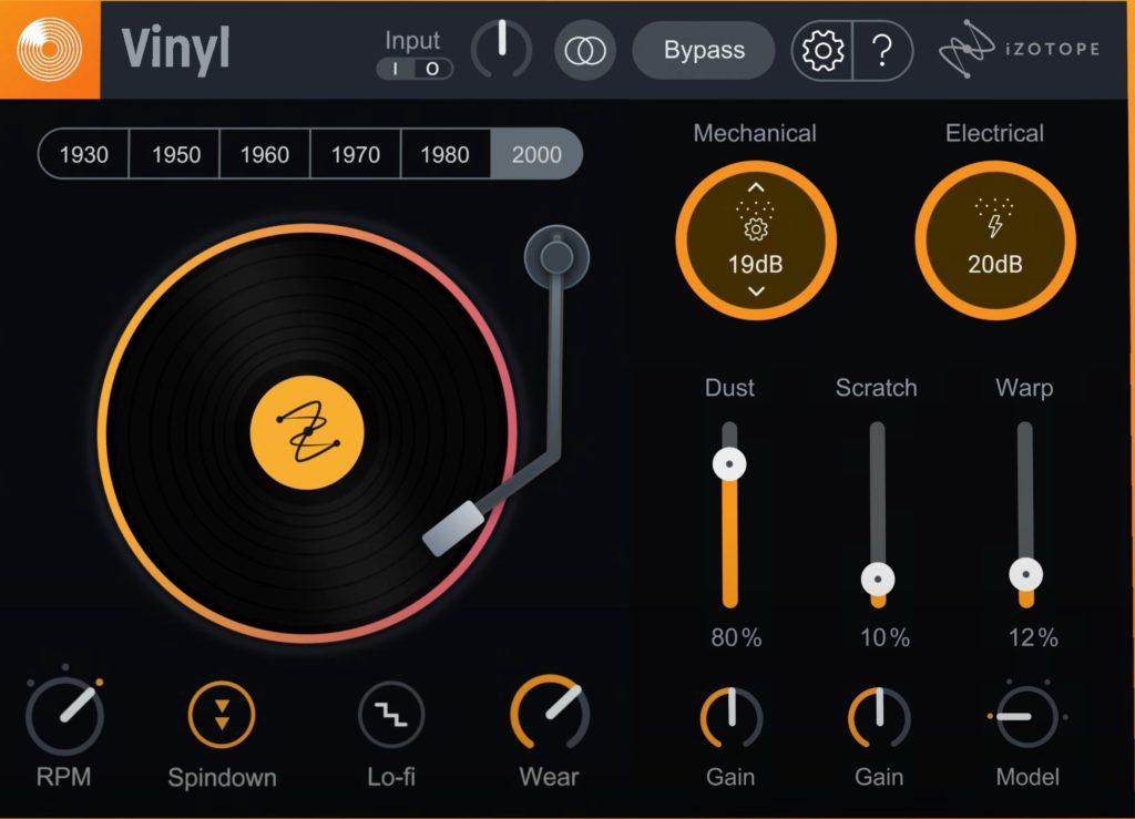 iZotope Vinyl   Audio Plugins for Free