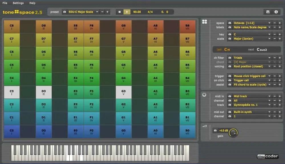 Tonespace (chord generator, Midi Tool) • Audio Plugins for Free