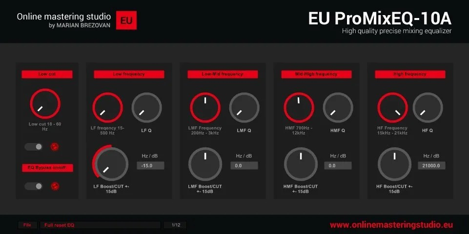 EU ProMixEQ-10A | Audio Plugins for Free