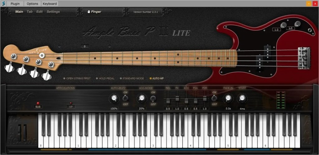 Ample Bass P Lite II | Audio Plugins for Free