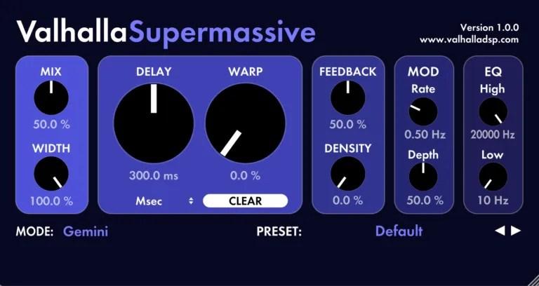 ValhallaSupermassive | Audio Plugins for Free