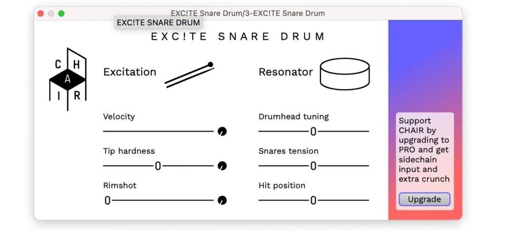 EXC!TE SNARE DRUM   Audio plugins for free