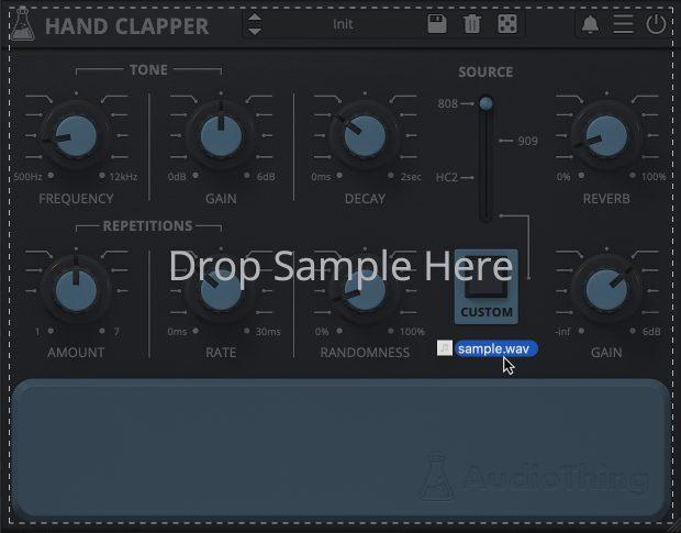 Hand Clapper Drop Custom Sample Feature