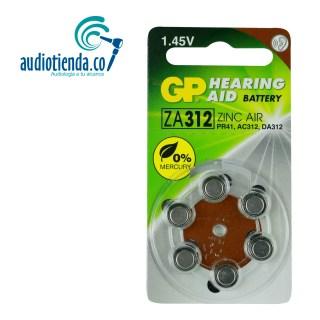 Pilas para audifonos Gp batteries 312