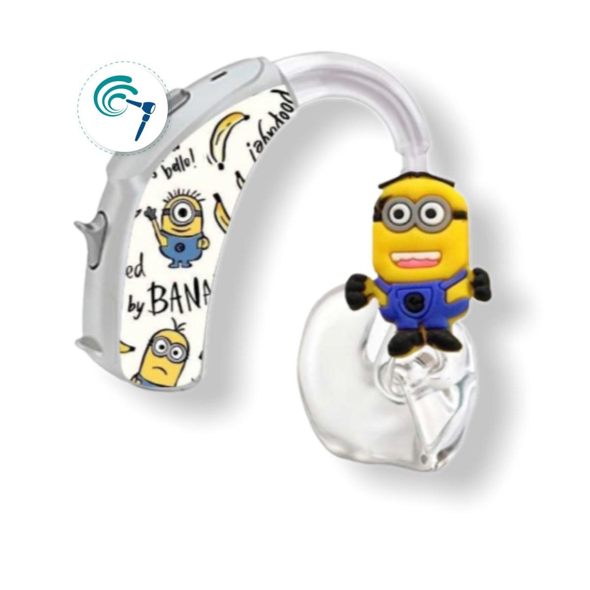 sticker y pin para audifono