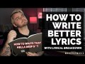 How To Write Lyrics (With Lyrical Analysis) | Make Pop Music