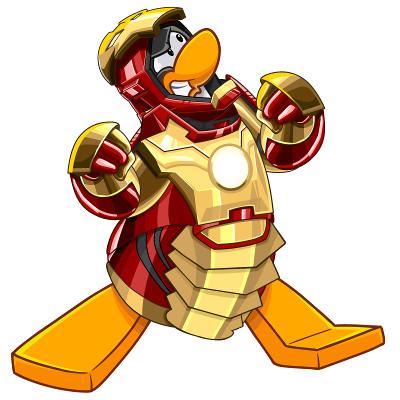 Club Penguin Iron Man