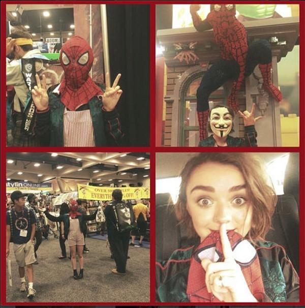 Maisie Williams Spiderman Comic Con 2014
