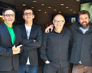 José Luis Cienfuegos, Ángel Sala, José Luis Rebordinos y Corbeta