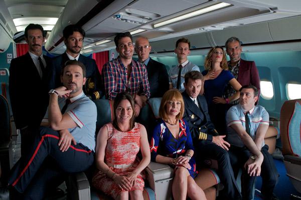 La parte principal del reparto de 'Los amantes pasajeros'