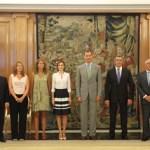 Los Reyes reciben a los representantes de las industrias culturales