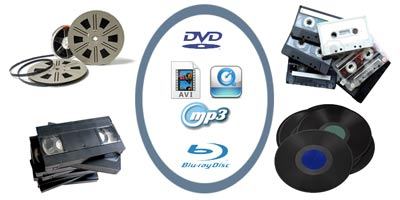 Cambio de formato de vídeo y audio: Super 8, VHS, casete, vinilo